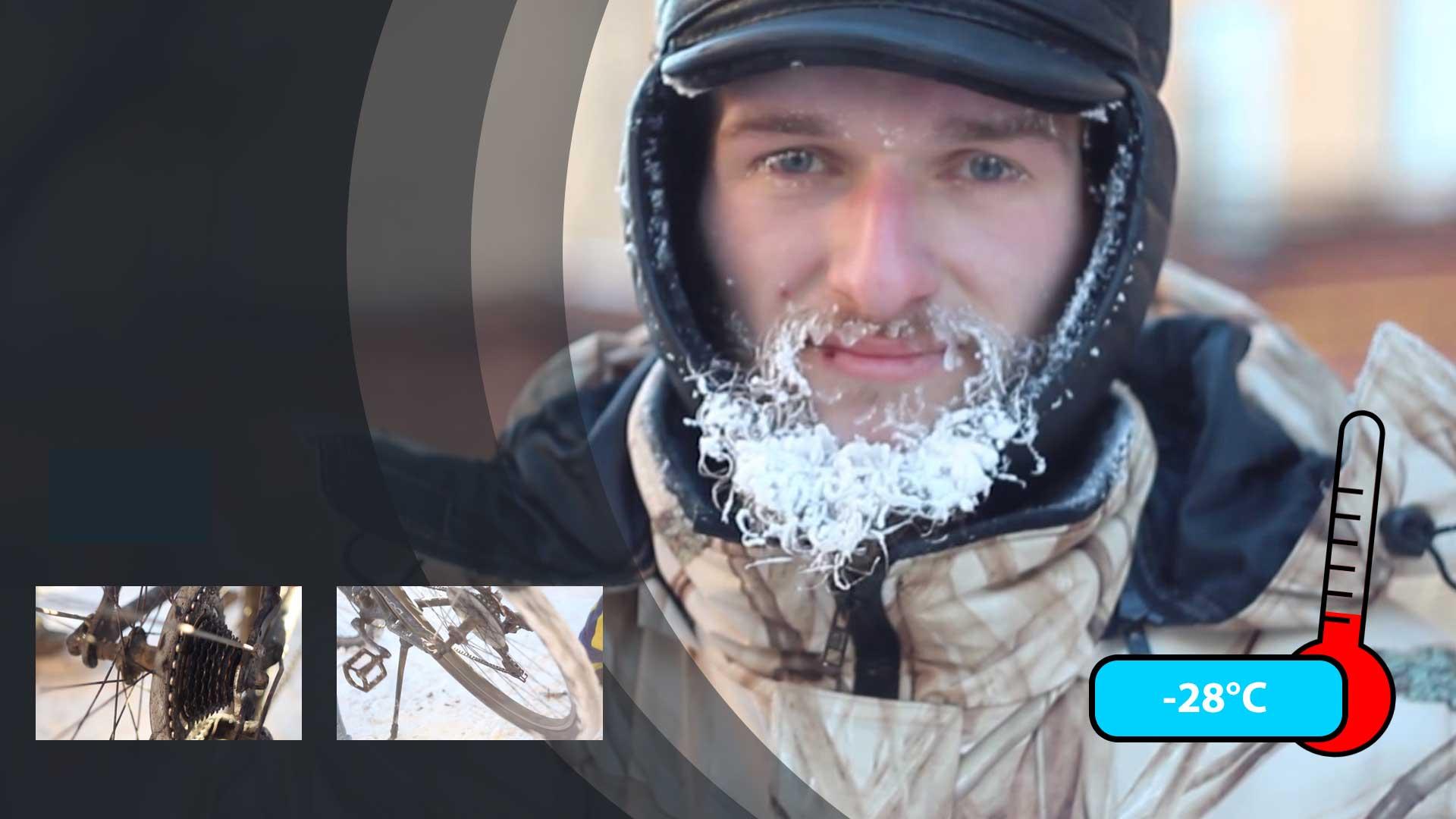 【现场】 有趣的短视频 ZoominTV 战斗民族无车日:体验零下几十度骑自行车的酸爽