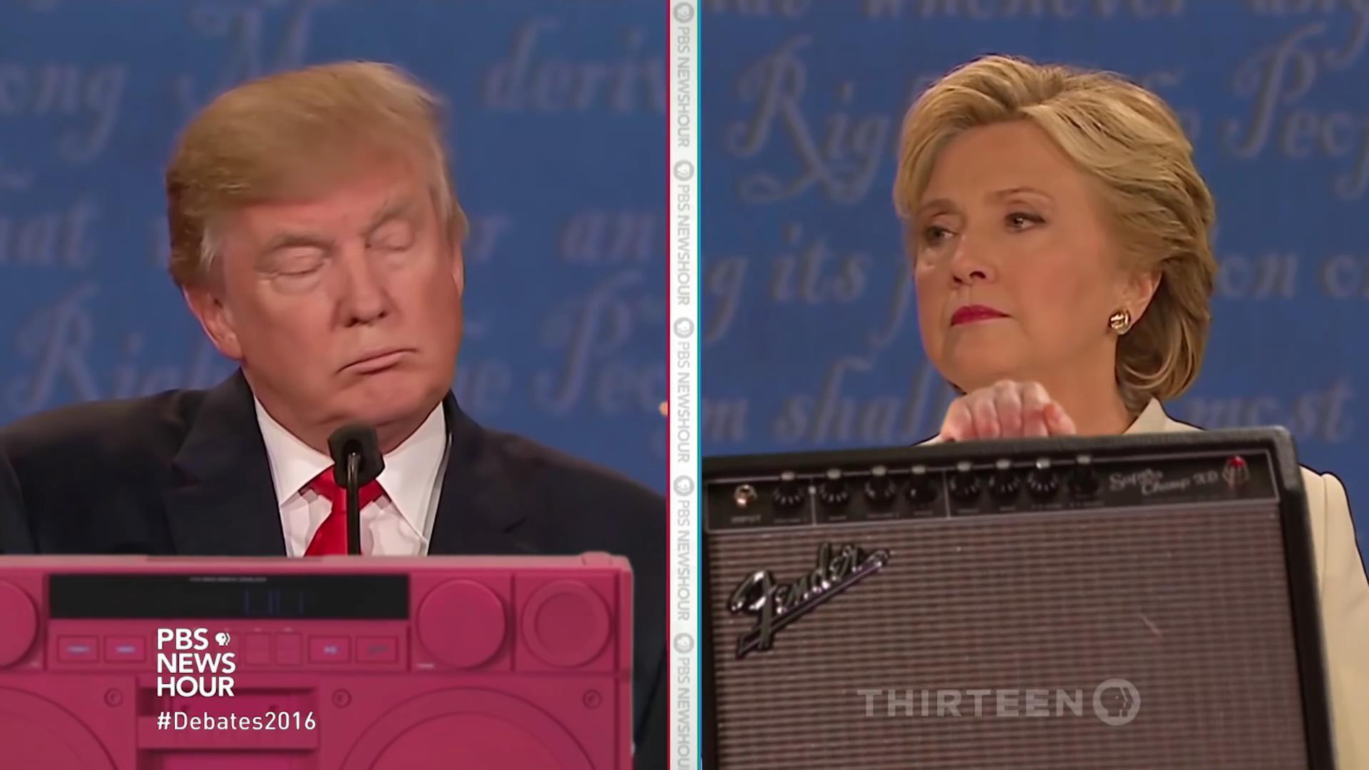 一美国达人把大选辩论做成了电音神曲,卧槽,这简直有毒!!!
