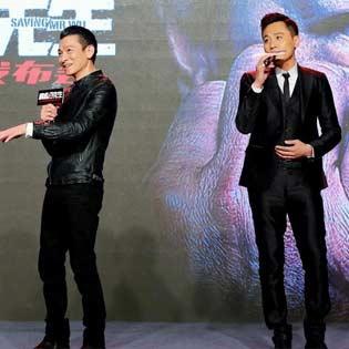 现场上演中国好声音,刘烨唱忘情水,刘德华为他转身啦,大家都好会演。导演丁晟说这是刘烨唱歌调最准的一次