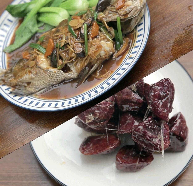 红烧鱼+拔丝紫薯 送给老人和小朋友