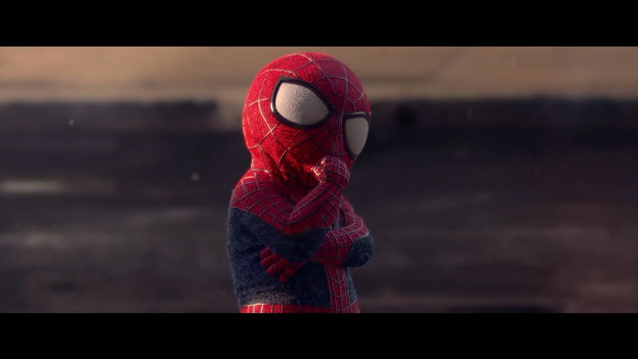 蜘蛛侠遇到小蜘蛛.