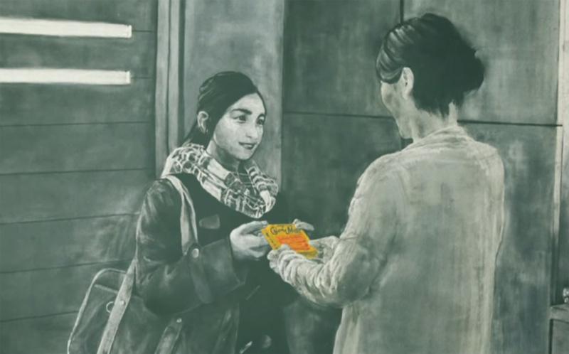 创意 大塚制药营养品广告 34人耗时2623小时创作6328幅黑板画 微博@爷爱怀旧 创意