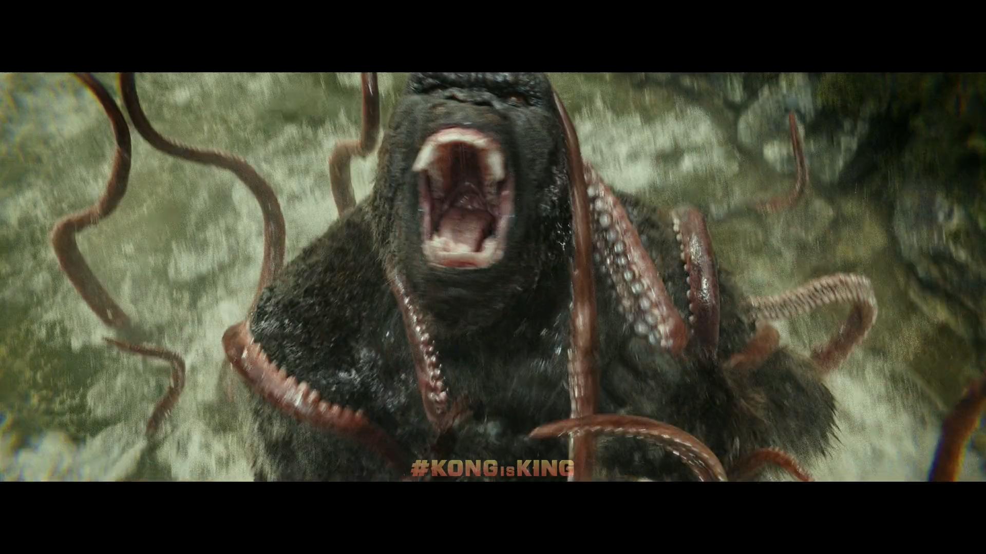 尤其金刚为保卫骷髅岛与岛上怪兽们大战!太特么霸气了!