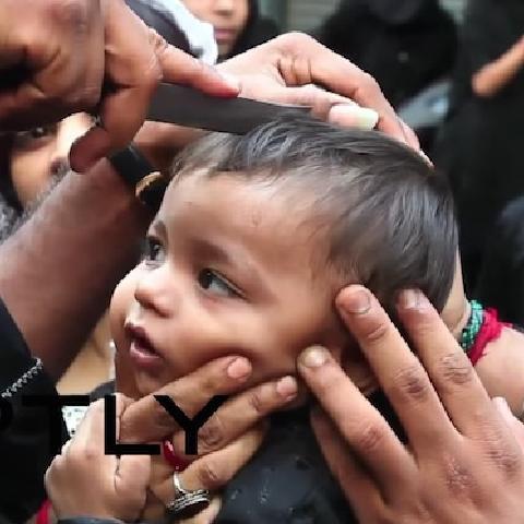 资讯 阿舒拉节 大批印度人在街头割头自残血祭先知 其中不乏儿童 微博@爷爱怀旧 资讯